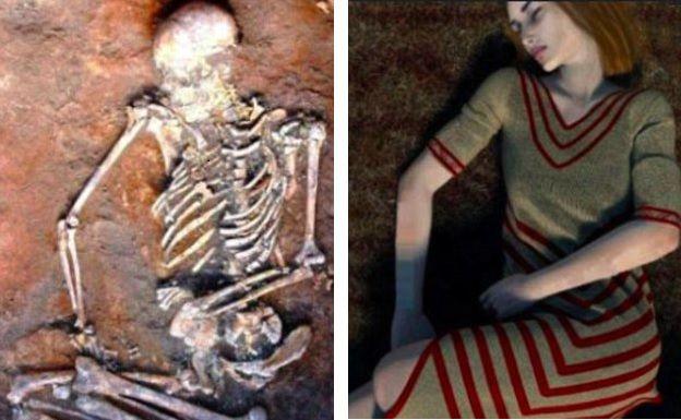 В Украине нашли тело с украшениями на костях