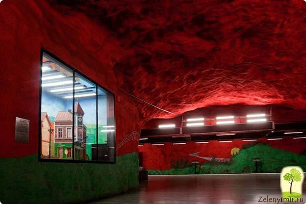 Ошеломляющее метро в Стокгольме – самая длинная художественная галерея в мире, Швеция - 16