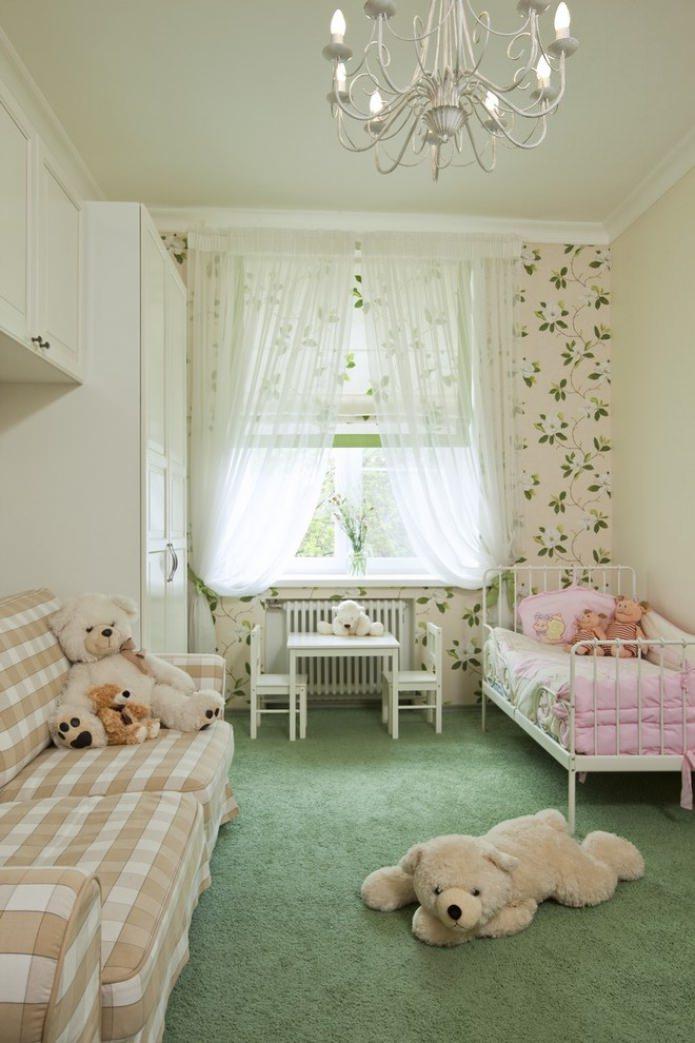 Римская штора и тюль в детской