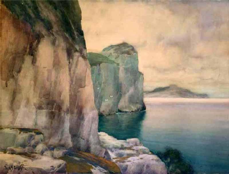 Лирический пейзаж изменчивой природы... Ричард Александрович Берггольц (1865-1920)