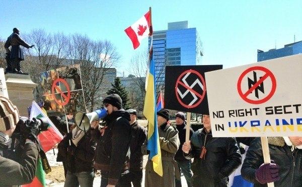 Митинг в Канаде - Бандера убийца!