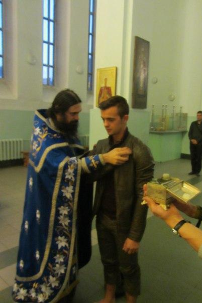 Франция христианская с любовью и верую в Новороссию: принятие православной веры легионером-французом! Протоиерей Олег Трофимов