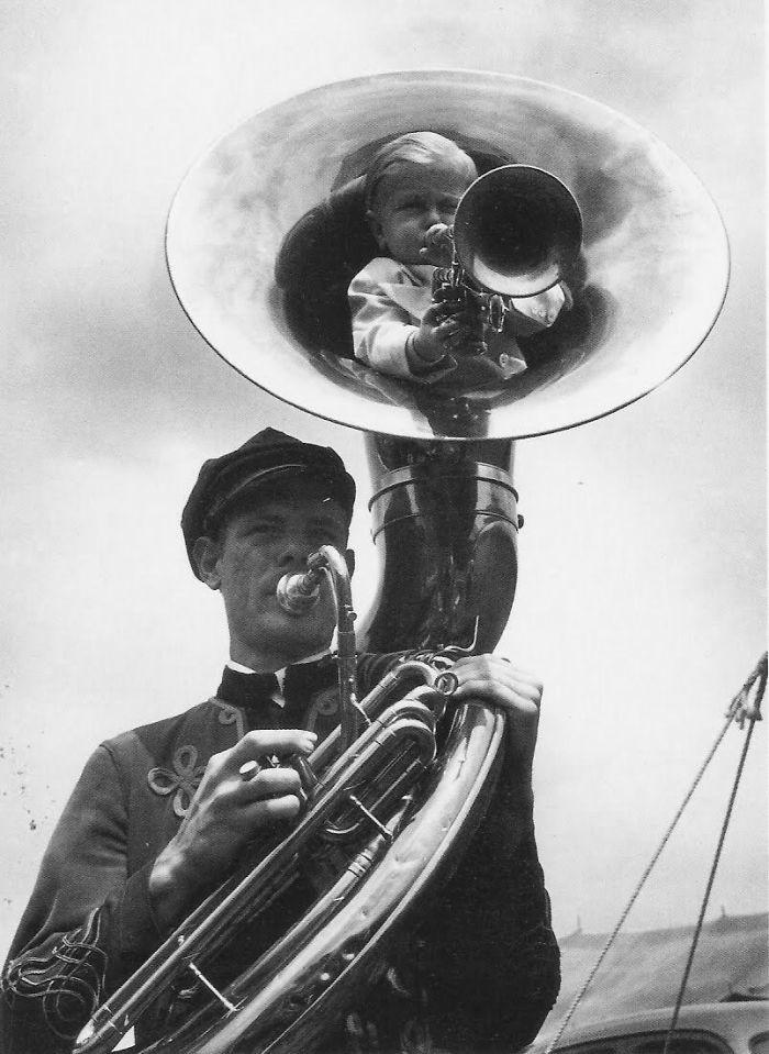 23. Трубачи, 1940 год  детство, прошлое, фотография