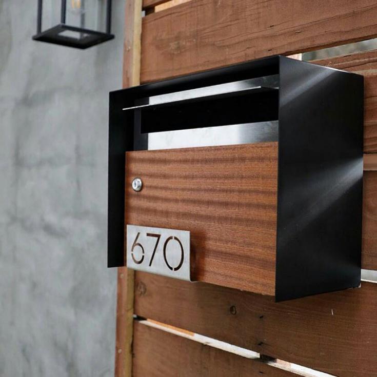 Стильный современный почтовый ящик