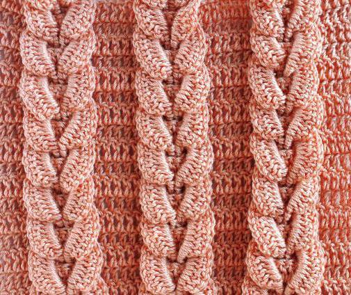 Схемы косое вязание крючком