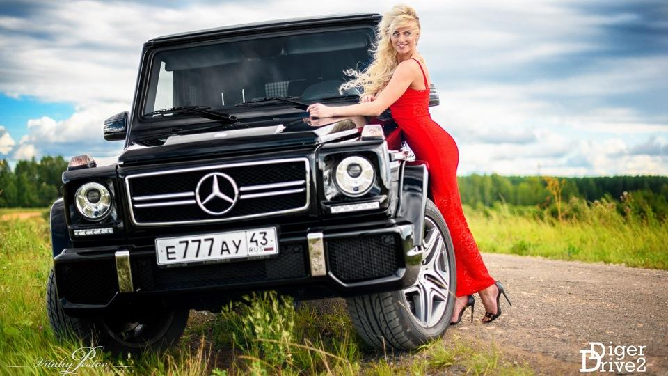 Автомобили  и девушки Мерседес-Бенц ( Tuning mercedes-benz g 63 amg 2014 )