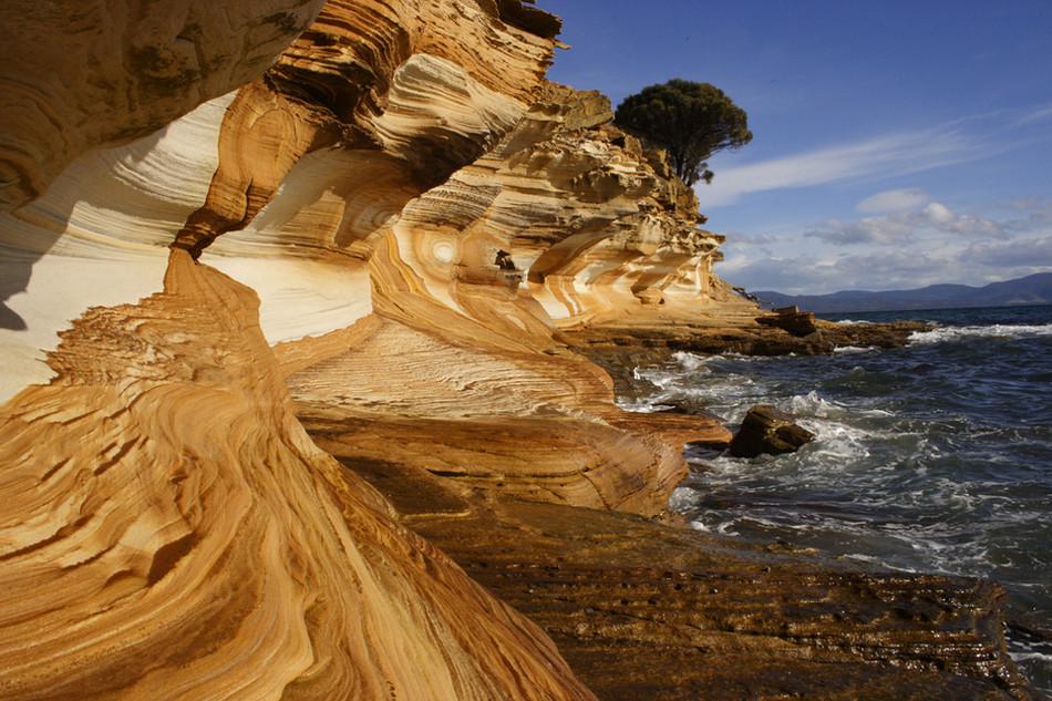 Цветные скалы, Тасмания геология, история с географией, красота, скалы