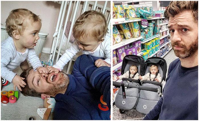 Папа четверых девочек ведет забавный Инстаграм о трудностях родительской доли