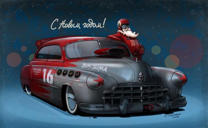 Классный представительский автомобиль для Деда Мороза.