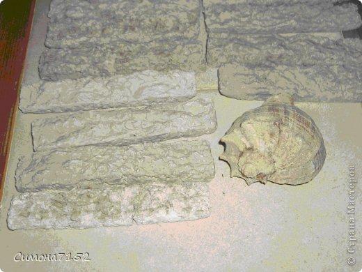 Мастер-класс Папье-маше Процесс декорирования стены камнем из бумаги Бумага фото 7