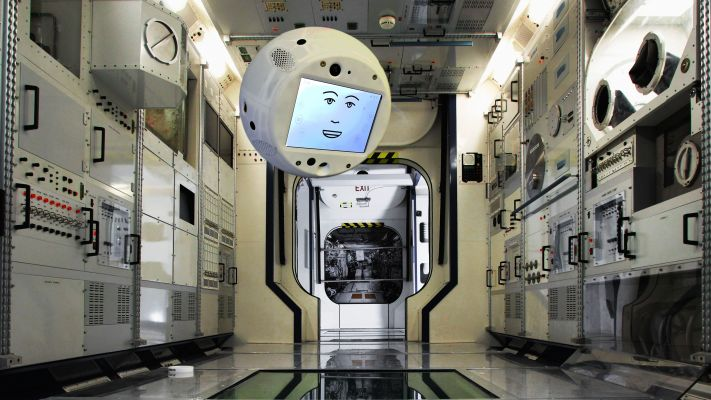 AI-enabled assistant robot returning to the Space Station with improved emotional intelligence