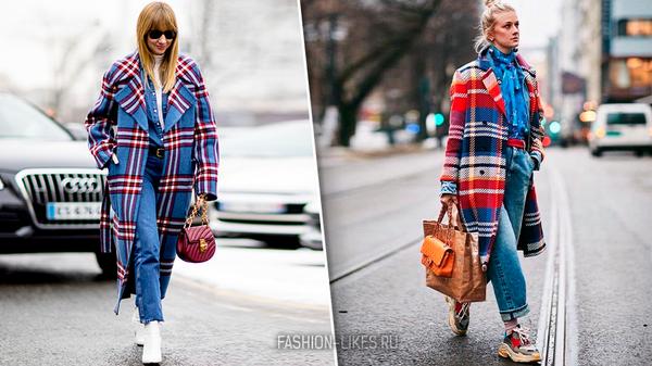 Как носить пальто с яркой клеткой — горячий тренд 2019