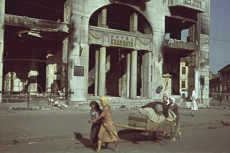 Гостиница «Красная» в оккупированном Харькове