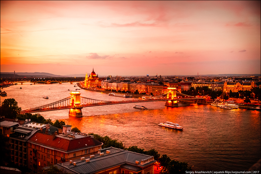 12 взглядов на ночной Будапешт