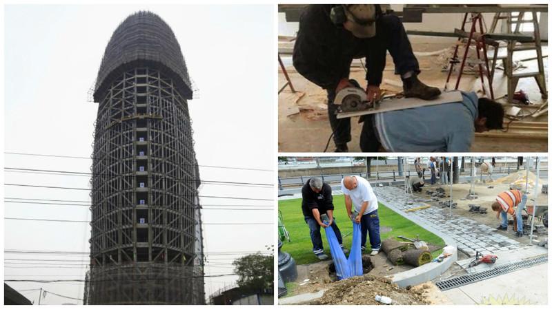 Опытные строители могут бриться даже с монтажной пеной (19 фото)