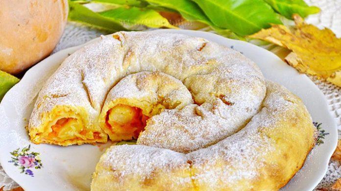 Вкусная выпечка, полюбившаяся многим — Вертута с яблоками