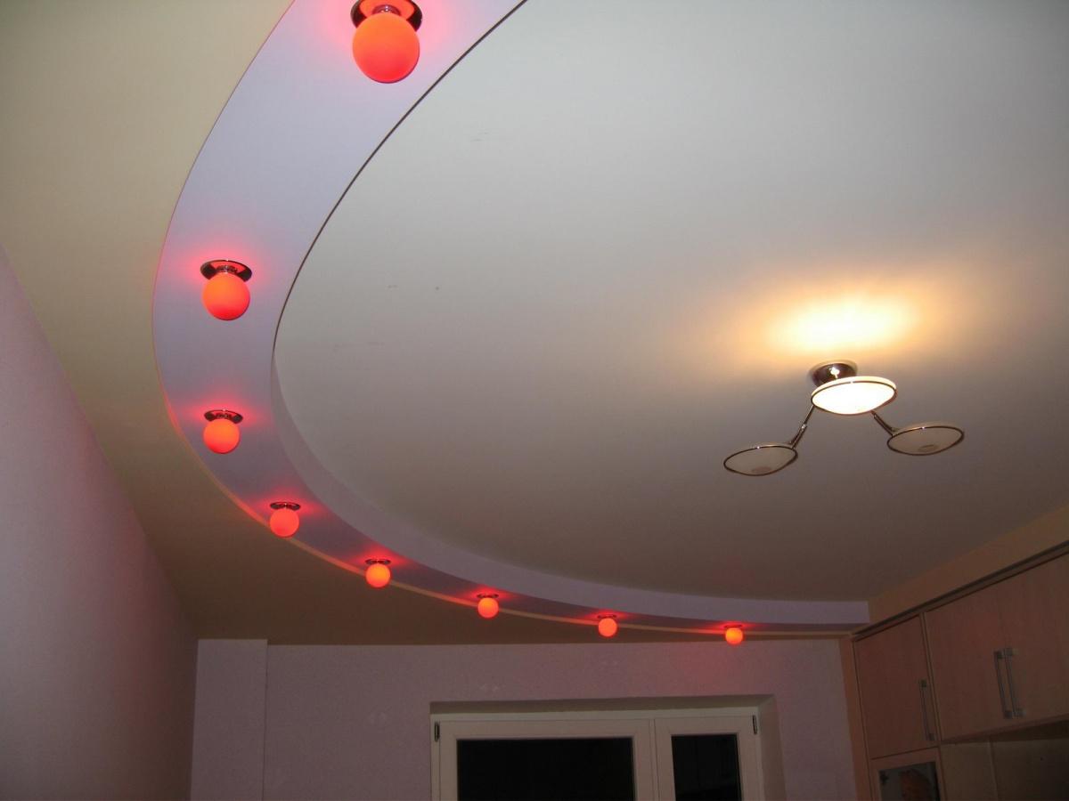 Потолки из гипсокартона своими руками фото зал