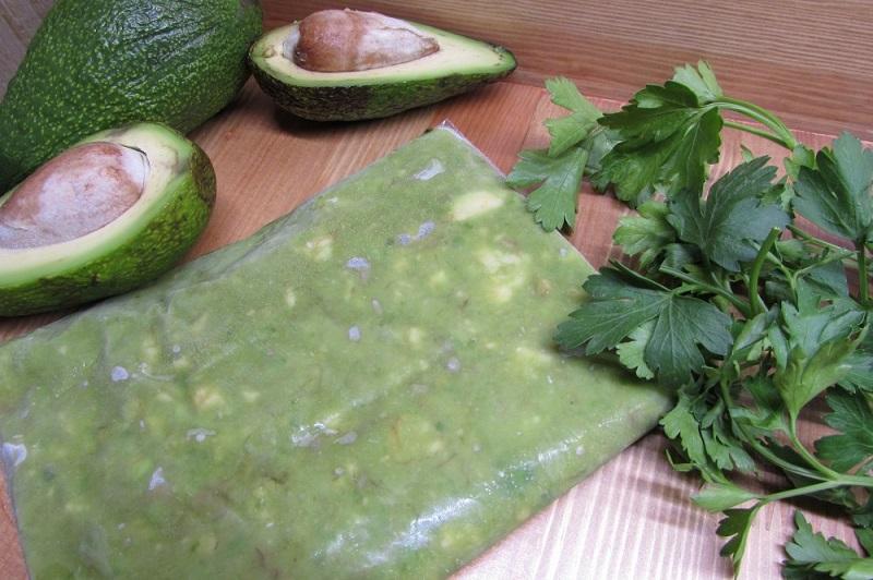 как заморозить авокадо