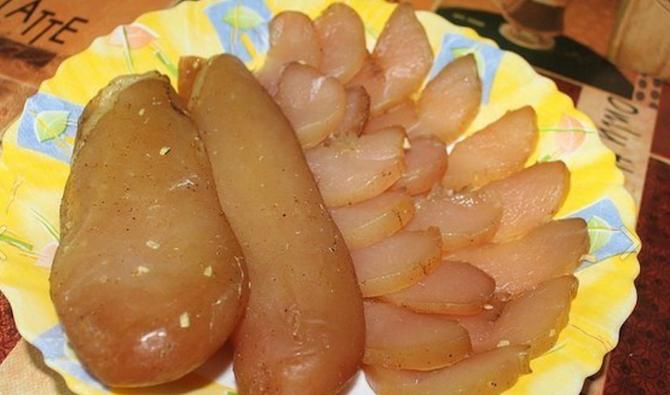 Непривычное использование куриного мяса: Вяленые куриные грудки