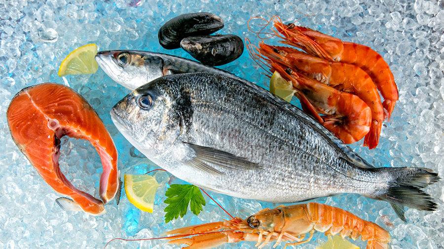 Замороженная рыба и морепродукты