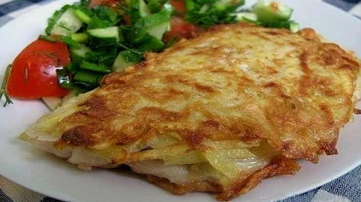 Рыба, жаренная в картошке