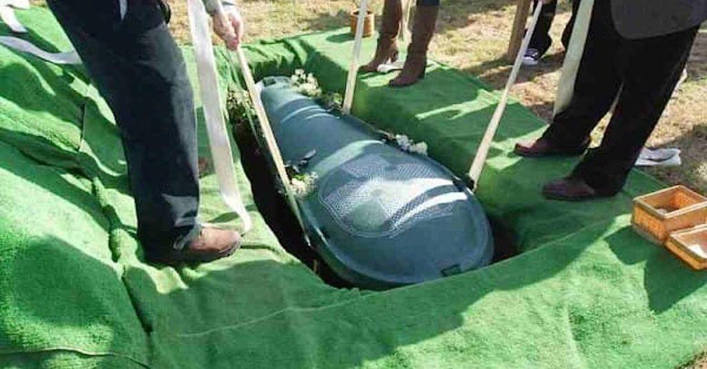 Во время похорон беременной …