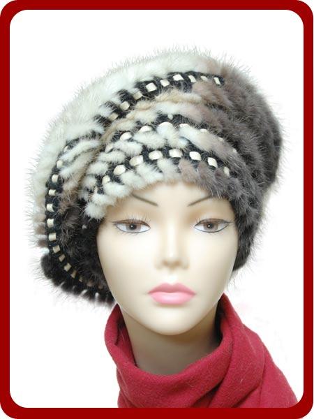 Зимние вязаные  с мехом шапочки. Идеи и немного техники