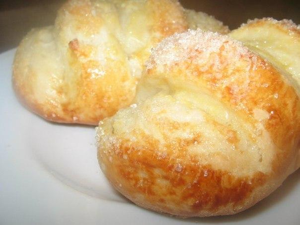 Ванильные булочки с сахаром из потрясающего теста!!!