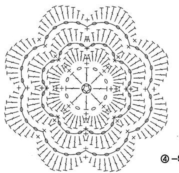 вязание-крючком-цветы-схемы