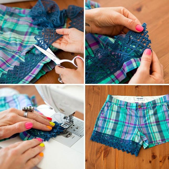 Как украсить шорты своими руками 90