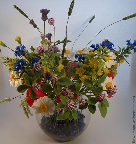 Полевые цветы: букет своими руками. Мастер-класс с фото - 7я.ру 13