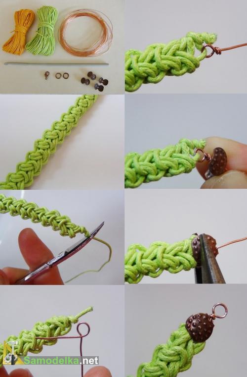 Плетение из ниток для вязания 78