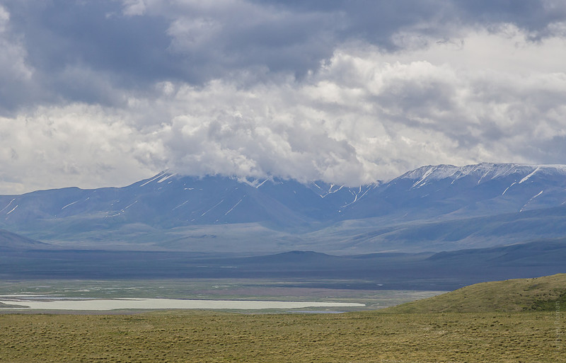 Хребет Сайлюгем и озеро Гусиное алтай, путешествия, россия, укок, фото