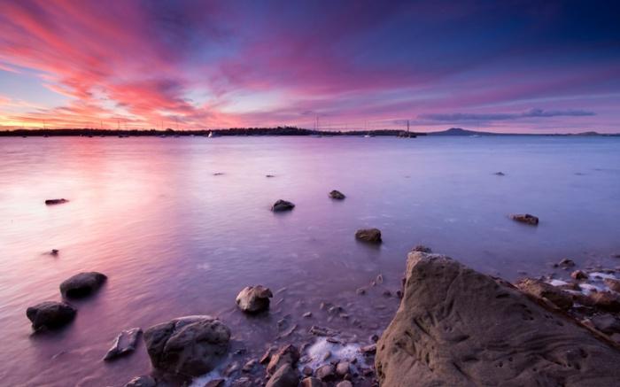 Закат. Новая Зеландия.