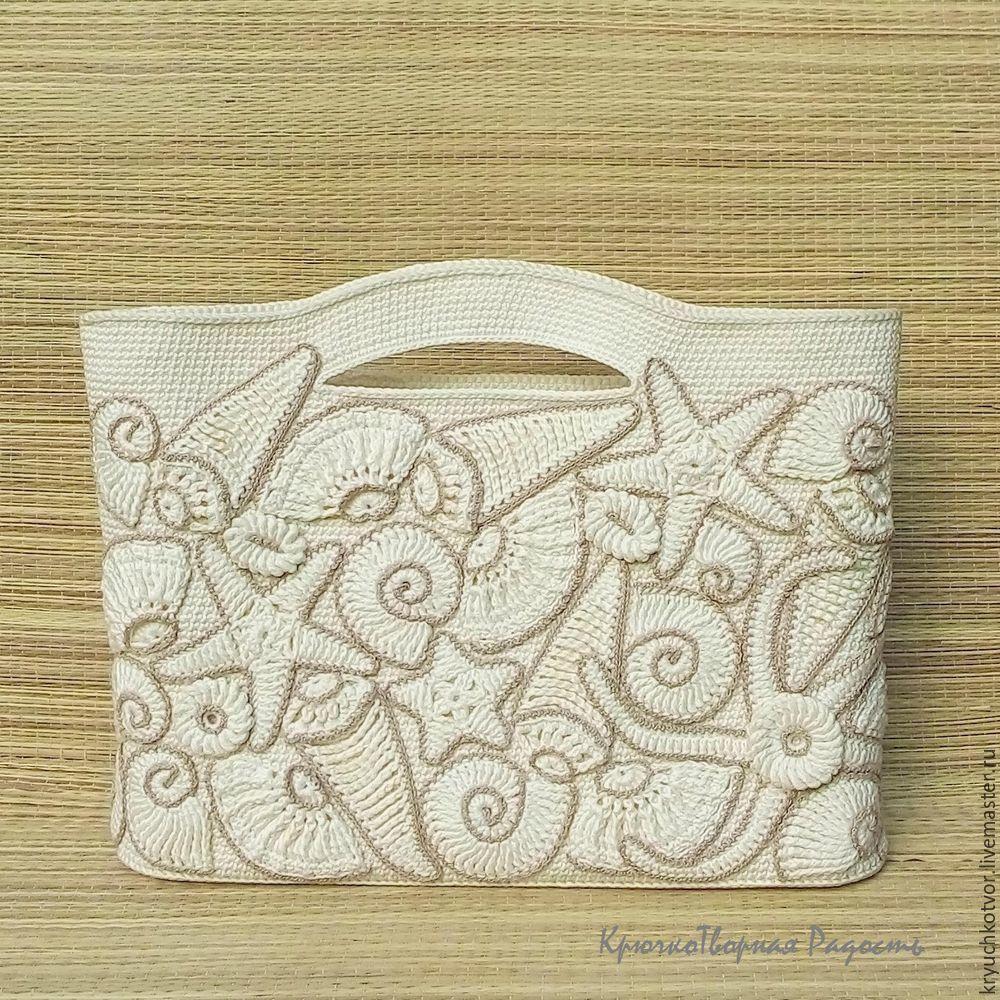 Декорируем пляжную сумку крючком