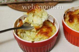 Вот такая получается картошечка: рыхлая, пышная, нежная, насыщенная сырно-сметанным вкусом и ароматом.
