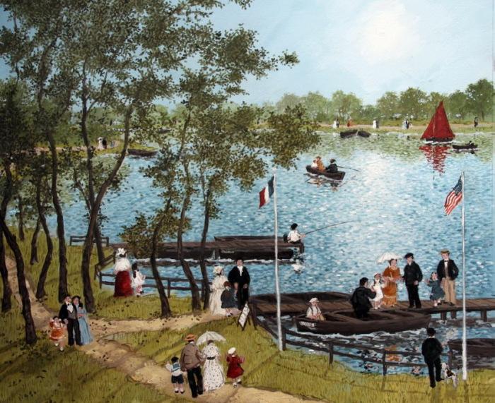 На озере.  Автор: Michel Delacroix.