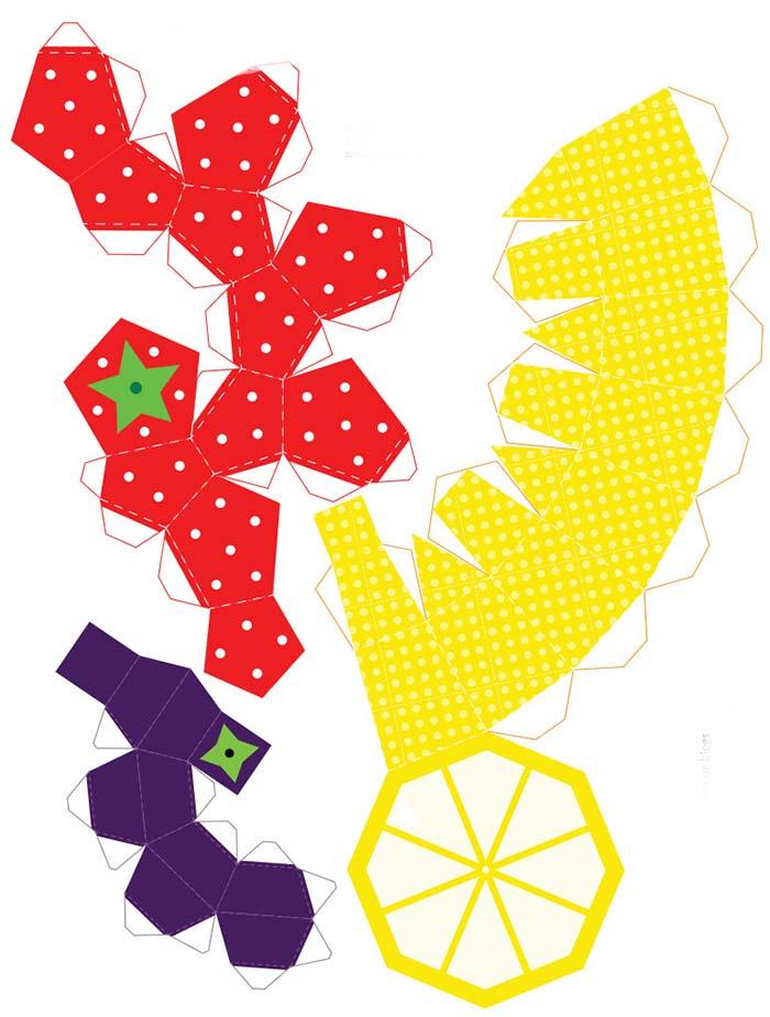 Как сделать из бумаги фрукты
