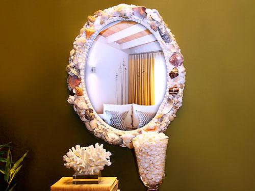 Красота из ракушек для интерьера ванной комнаты 59449