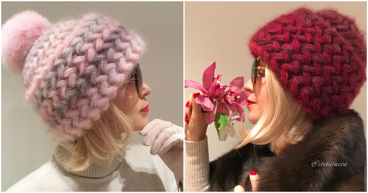 Теплая и стильная шапочка для суровых морозов
