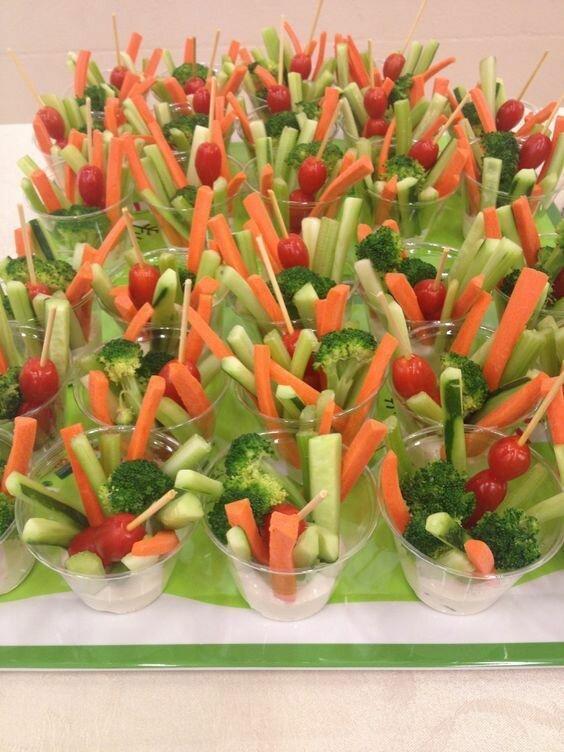 9. Овощи с соусом Закуски, быстро и вкусно, еда, красиво, рецепты, снэк, фото