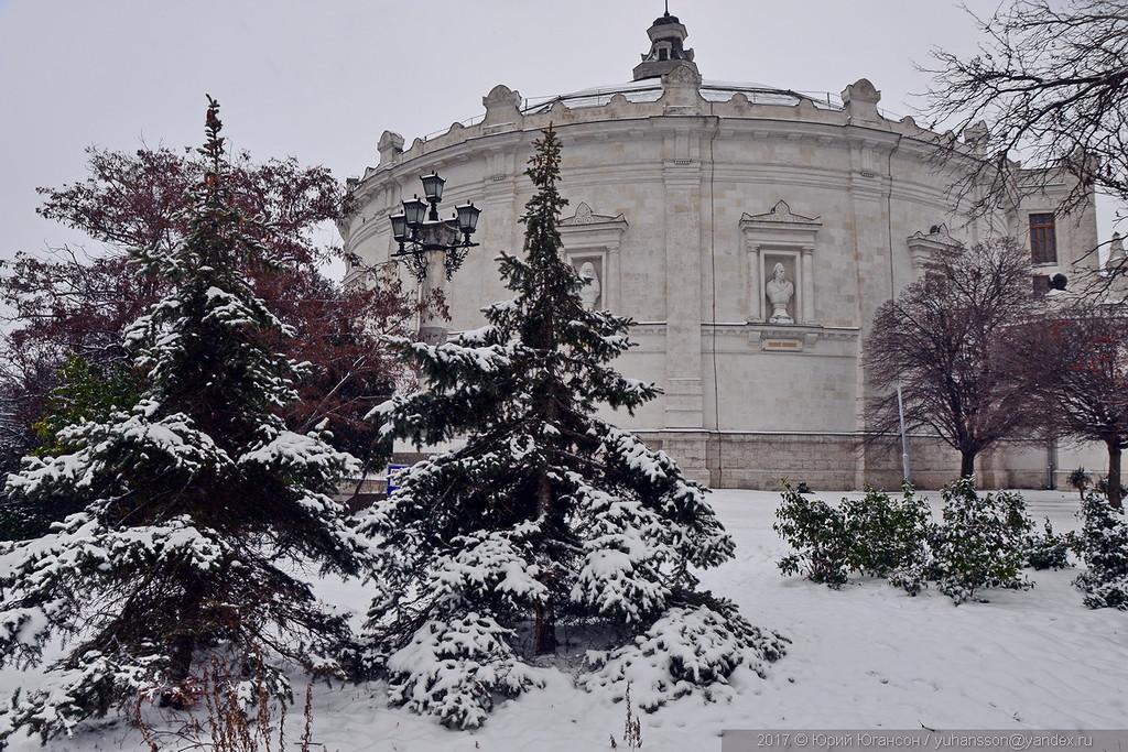 Севастополь. Исторический снег,  снежный Историк