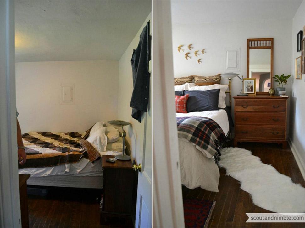 Чудесные перевоплощения комнат после ремонта. До и После