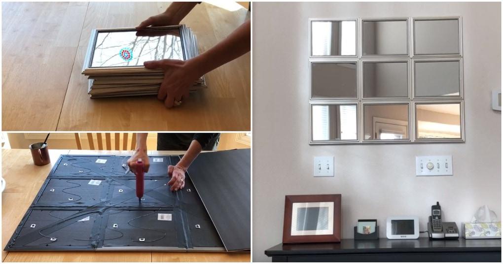 Зеркальное панно — стильное дополнение интерьера
