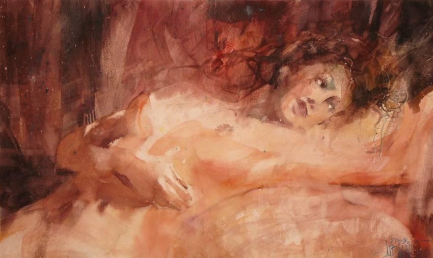 И полумысли, полузвуки вплывают в дымчатый мой сон... Акварели Krzysztof Ludwin