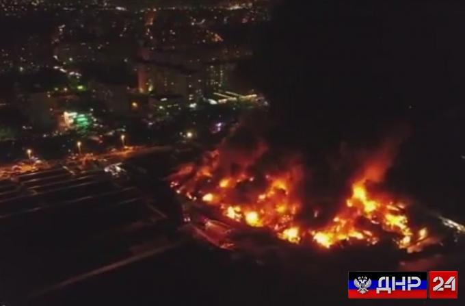 В Ростове-на-Дону сгорел крупнейший на юге России рынок (видео)