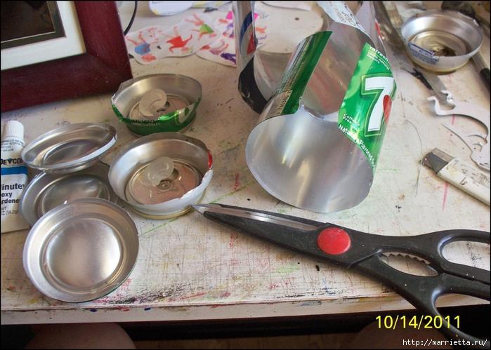 Поделки из алюминиевых банок для начинающих 24
