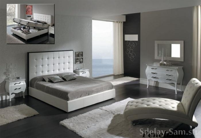 Своими руками : Кровать двуспальная с лифтом и двумя отделениями для вещей