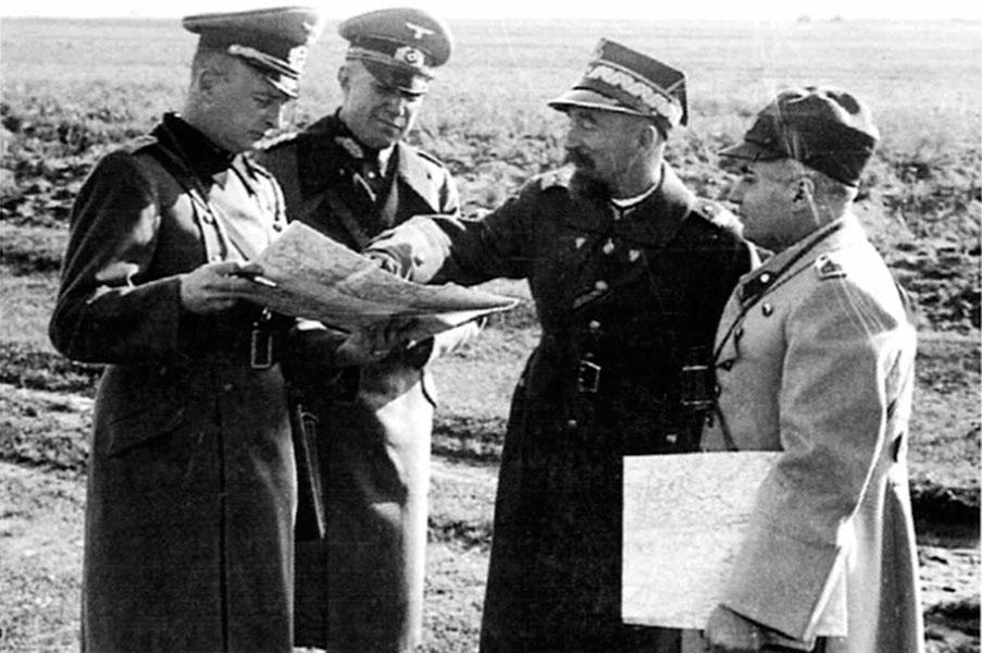 Тот же польский генерал Заморский и Хайнц Гудериан на совместных учениях