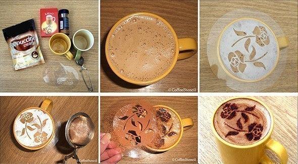 Хотите порадовать своих гостей рисунком или надписью на пенке от кофе?